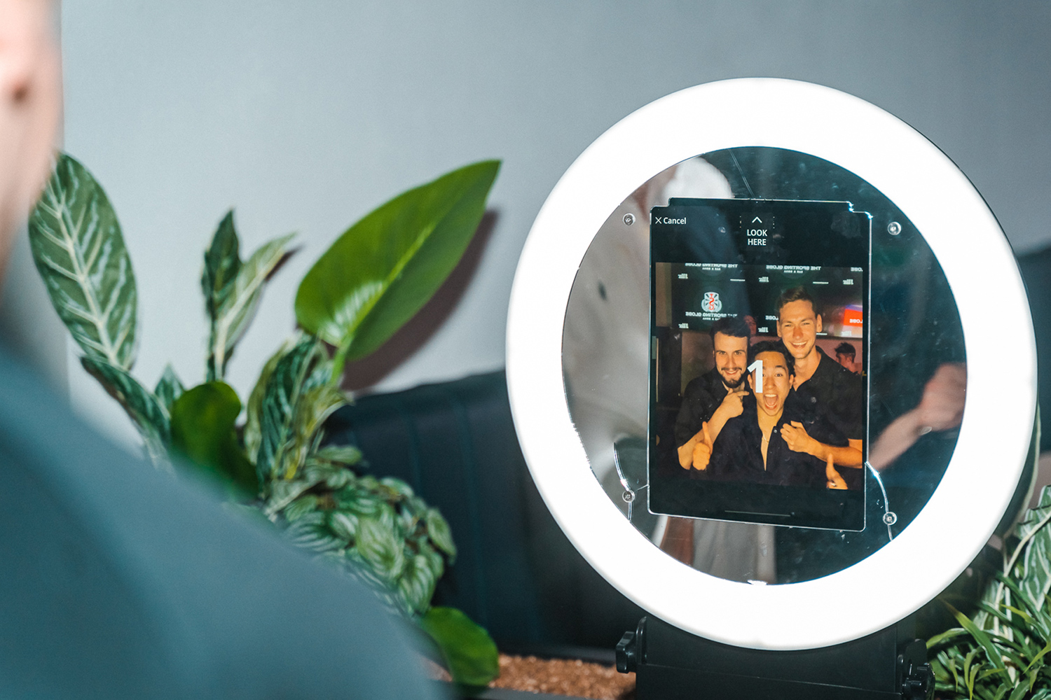 Digital photo booth for hire by Front Row Entertainment