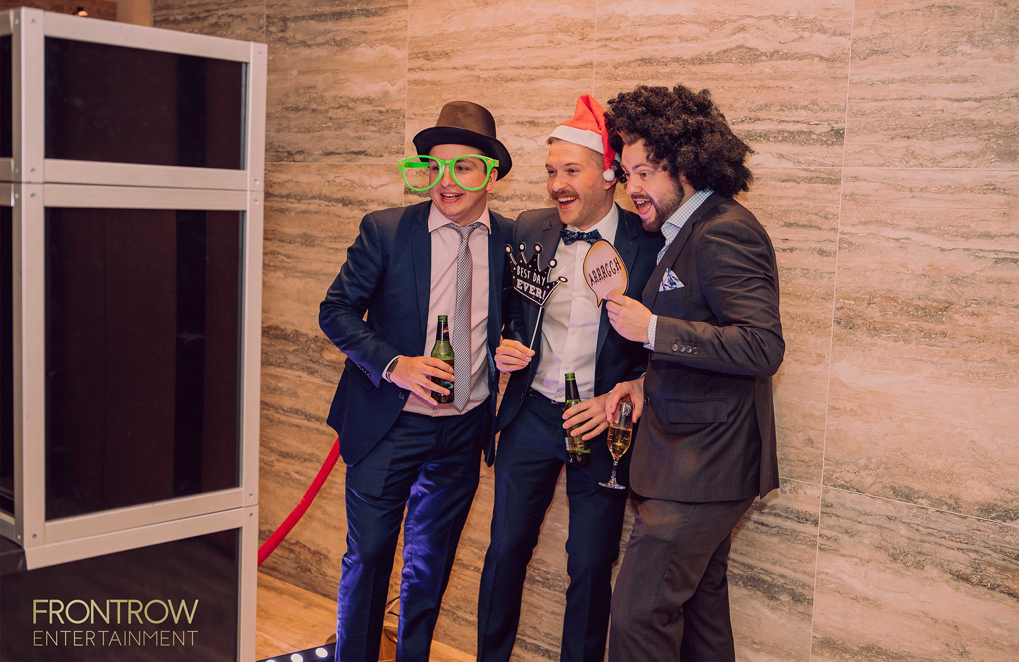 Front Row photo booth for hire
